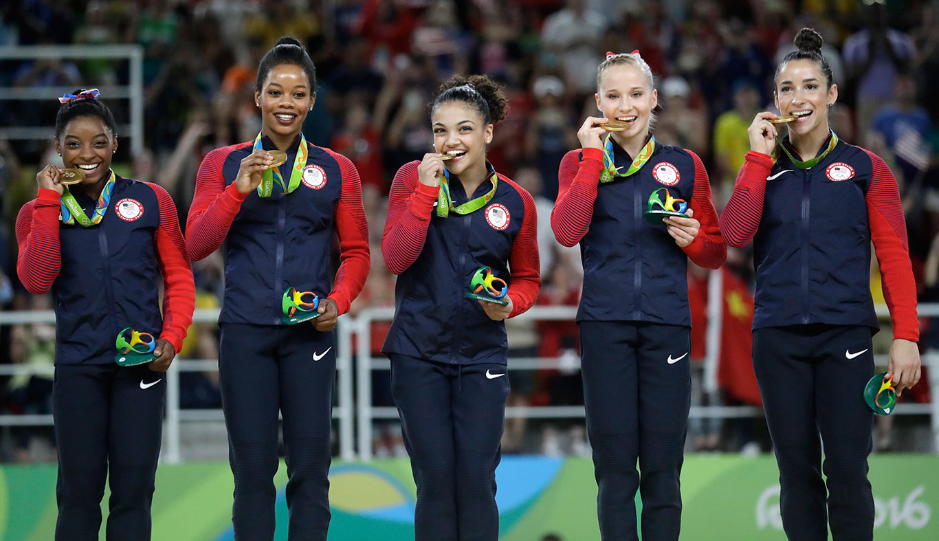 final five medal ceremony ap